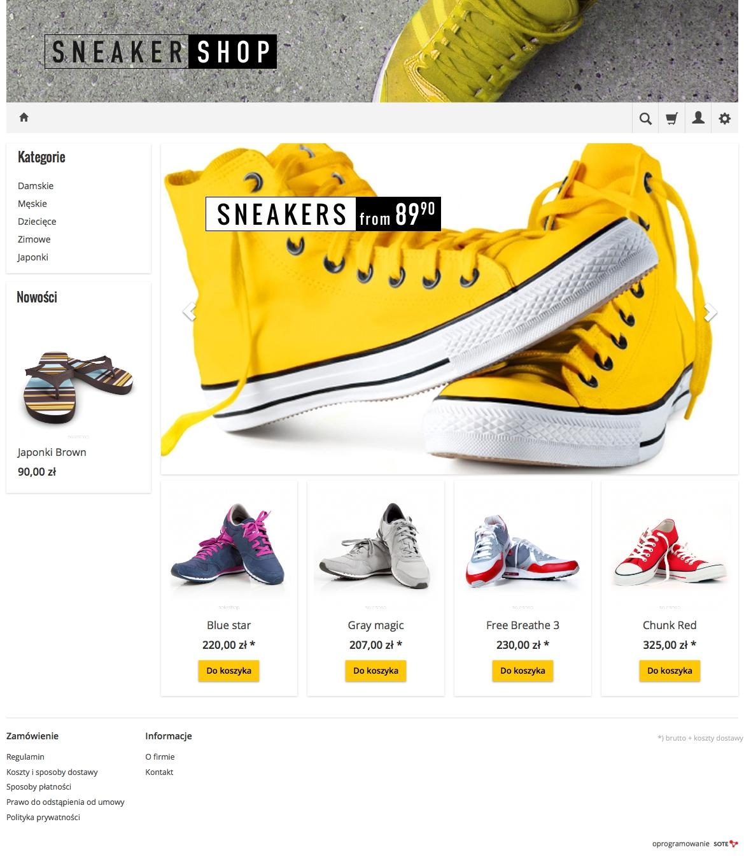 Temat graficzny GialloRWD dla sklepu internetowego SOTESHOP