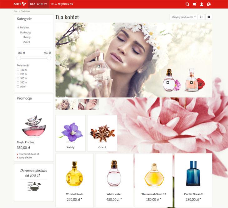 Prezentacja modułu kolekcje produktów w sklepie internetowym w temacie responsive