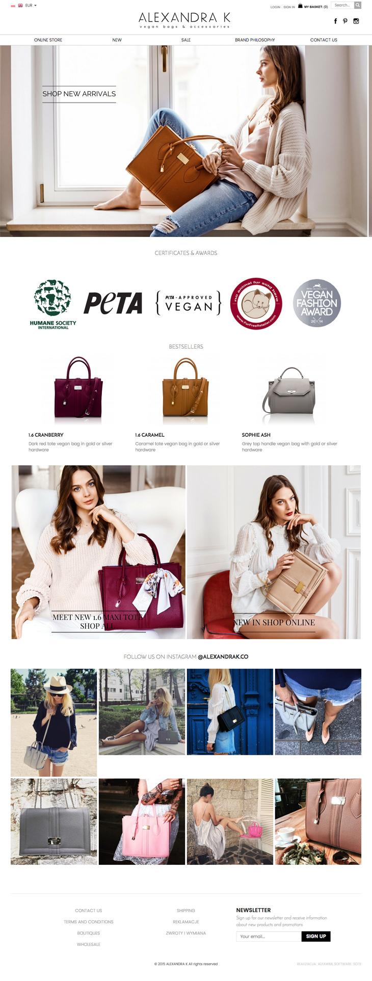 Sklep internetowy ALEXANDRA K vegan bags & accessories
