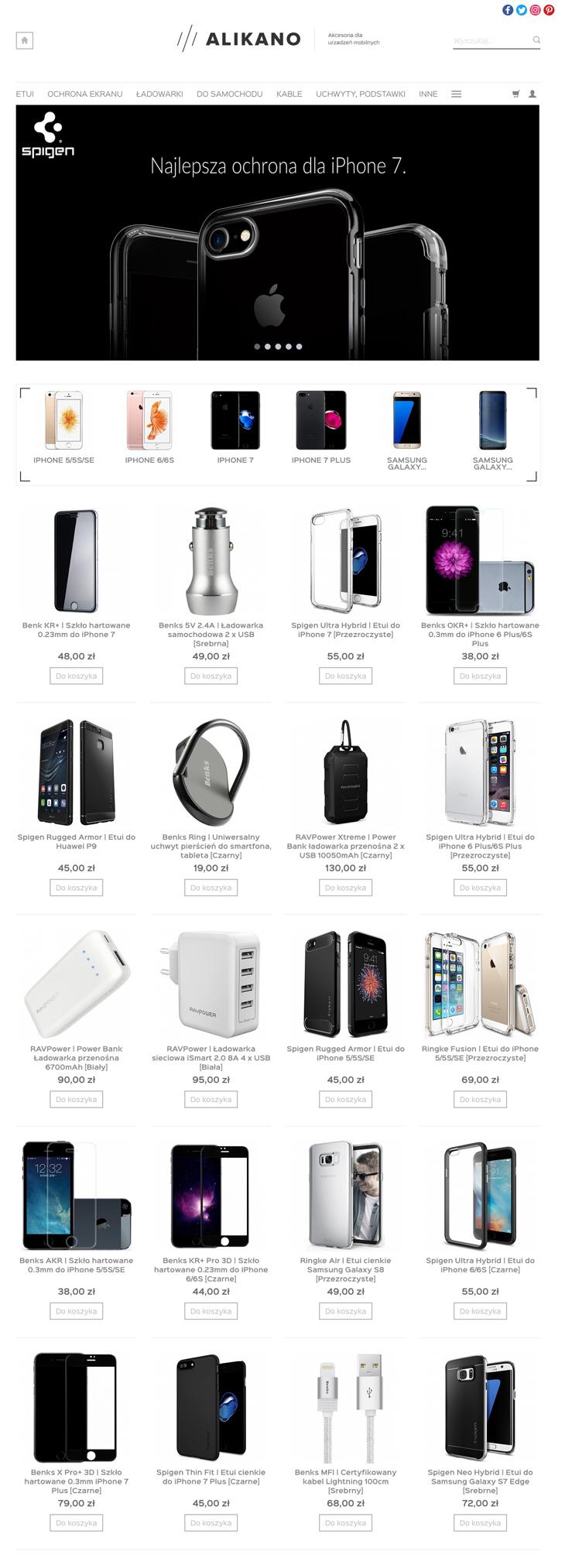 Sklep internetowy ALIKANO Akcesoria dla urządzeń mobilnych