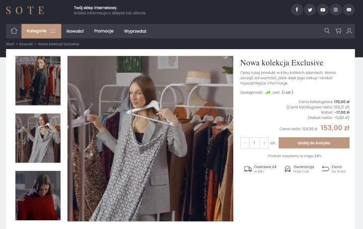 Sklep internetowy Moda z video