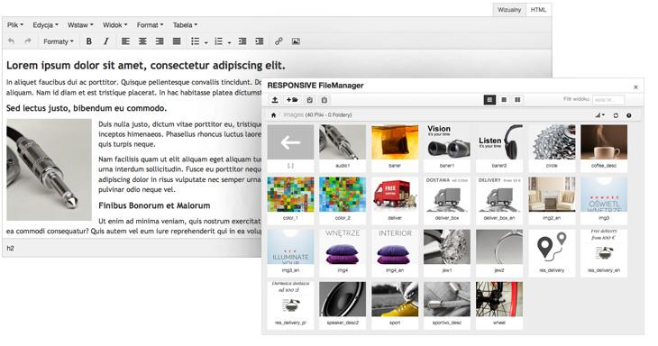 Nowy edytor HTML w sklepie internetowym