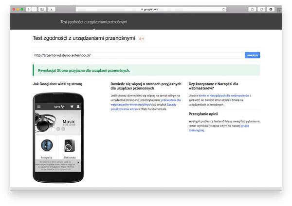 Temat zgodny z wymaganiami Google