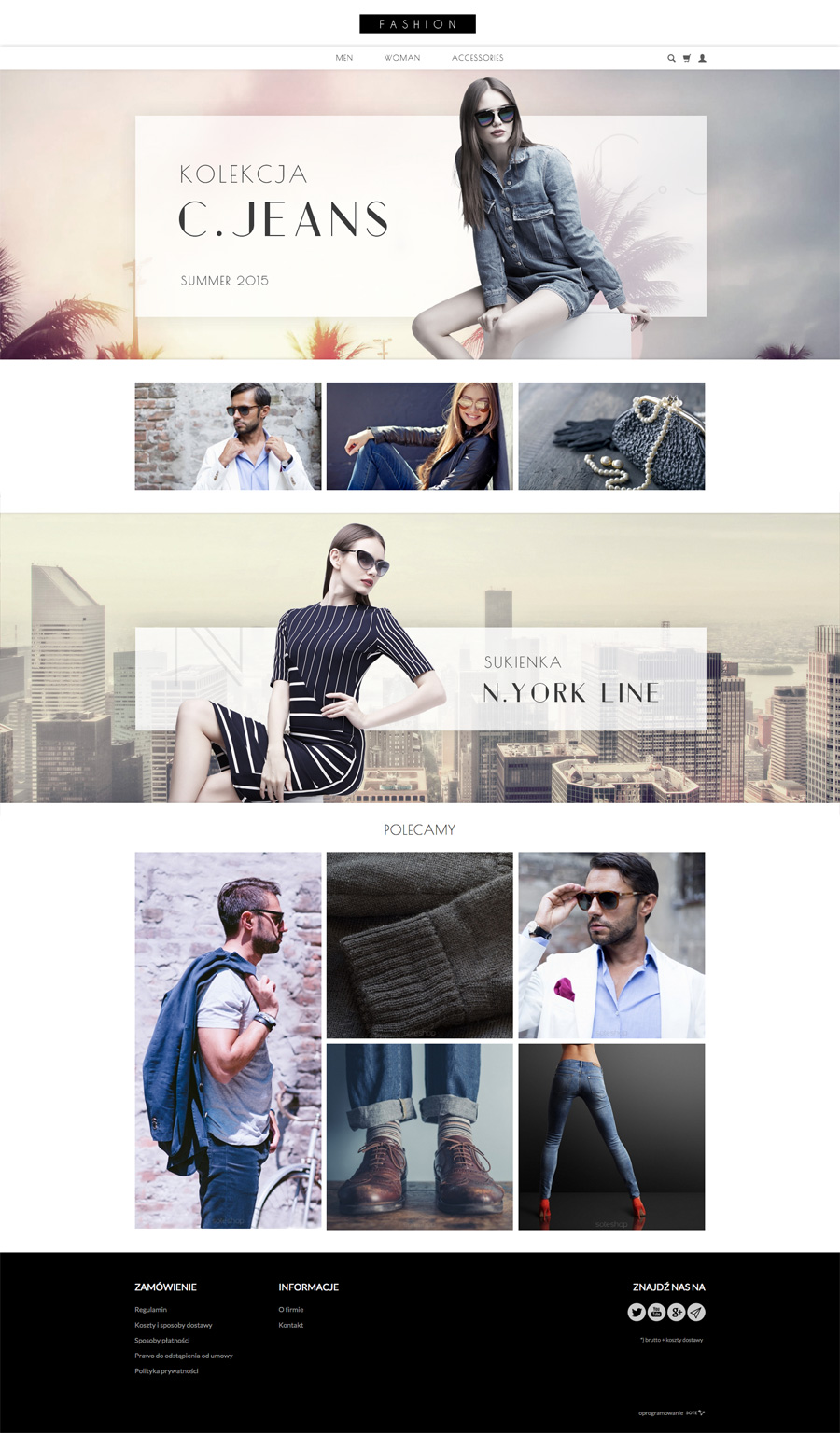 Temat FashionRWD w sklepie internetowym SOTESHOP